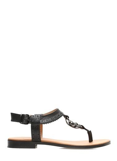 George Hogg Sandalet Siyah